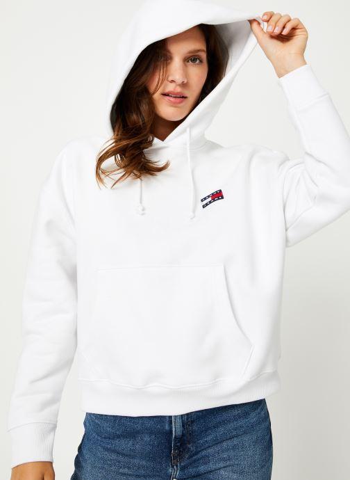 Vêtements Tommy Jeans TJW TOMMY BADGE HOODIE Blanc vue détail/paire
