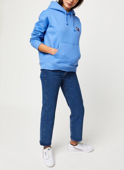 Vêtements Tommy Jeans TJW TOMMY BADGE HOODIE Bleu vue bas / vue portée sac