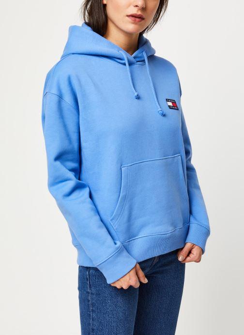 Vêtements Tommy Jeans TJW TOMMY BADGE HOODIE Bleu vue droite