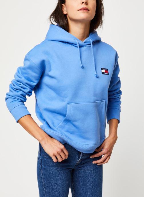 Vêtements Tommy Jeans TJW TOMMY BADGE HOODIE Bleu vue détail/paire