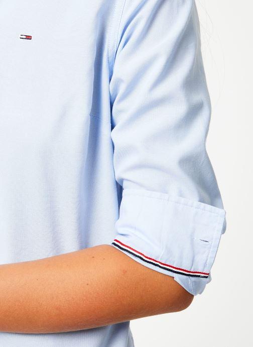 Kleding Tommy Jeans TJW SLIM FIT OXFORD SHIRT Blauw voorkant