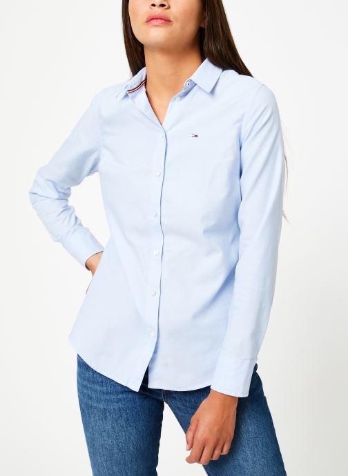 Vêtements Tommy Jeans TJW SLIM FIT OXFORD SHIRT Bleu vue droite