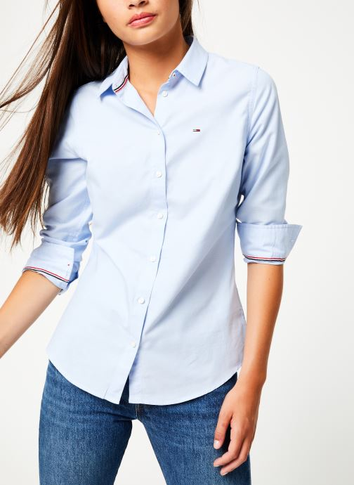 Kleding Tommy Jeans TJW SLIM FIT OXFORD SHIRT Blauw detail