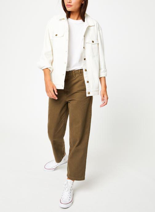 Vêtements Tommy Jeans TJW HIGH RISE STRAITGHT GMD PANT Vert vue bas / vue portée sac