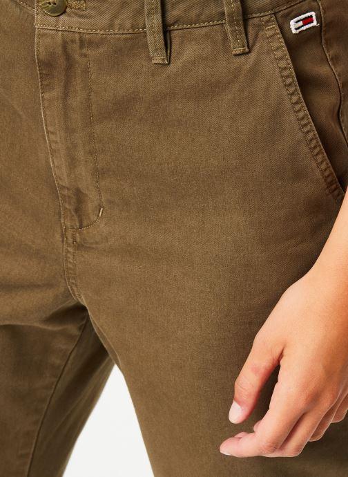 Vêtements Tommy Jeans TJW HIGH RISE STRAITGHT GMD PANT Vert vue face
