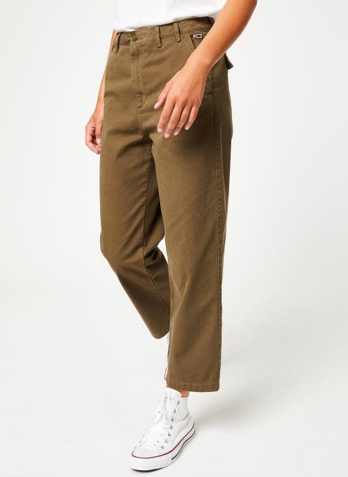 Vêtements Tommy Jeans TJW HIGH RISE STRAITGHT GMD PANT Vert vue détail/paire