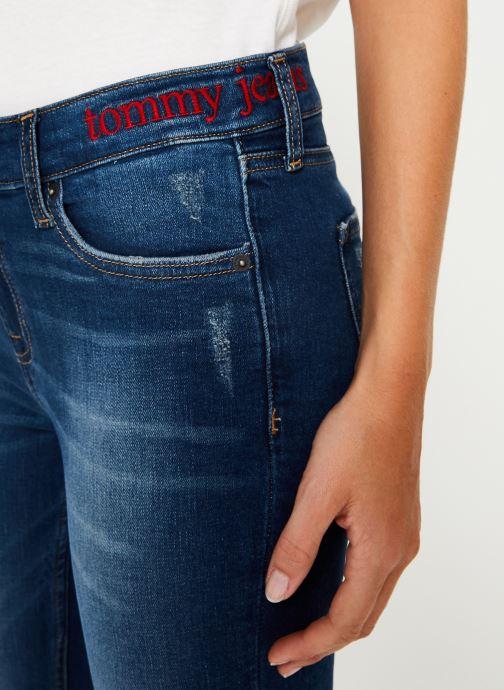 Kleding Tommy Jeans MID RISE SKINNY NORA 7/8 ELMD Blauw voorkant