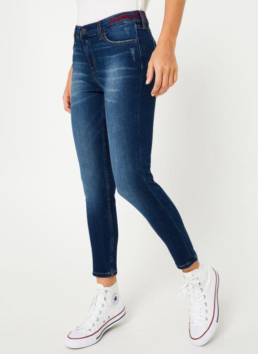 Kleding Tommy Jeans MID RISE SKINNY NORA 7/8 ELMD Blauw detail