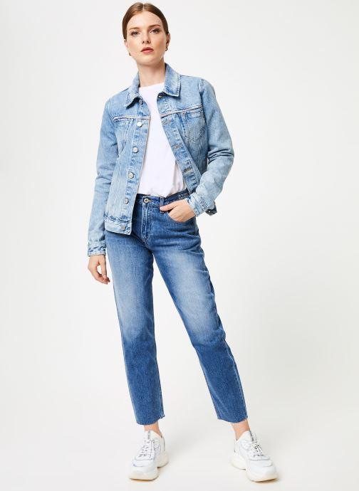 Kleding Tommy Jeans HIGH RISE SLIM IZZY CRMXB Blauw onder