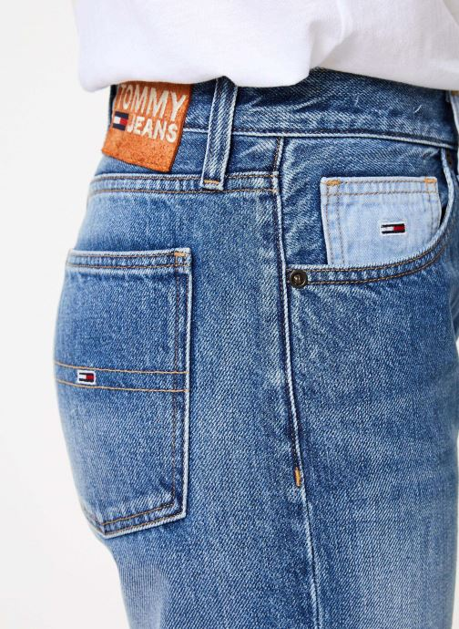 Kleding Tommy Jeans HIGH RISE SLIM IZZY CRMXB Blauw voorkant