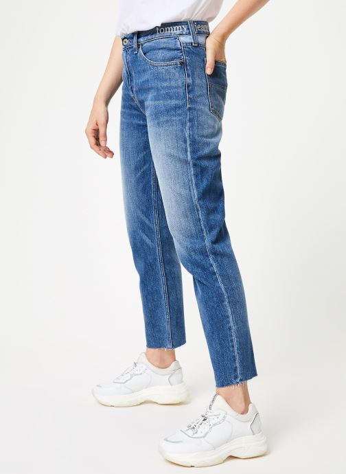 Kleding Tommy Jeans HIGH RISE SLIM IZZY CRMXB Blauw detail