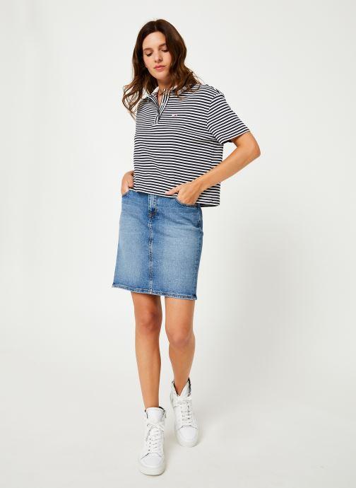 Vêtements Tommy Jeans REGULAR DENIM SKIRT ACLBC Bleu vue bas / vue portée sac