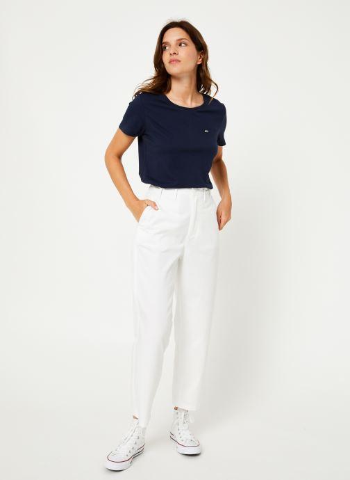 Vêtements Tommy Jeans TJW SOFT JERSEY TEE Bleu vue bas / vue portée sac