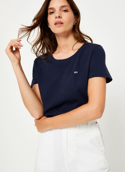Vêtements Tommy Jeans TJW SOFT JERSEY TEE Bleu vue détail/paire