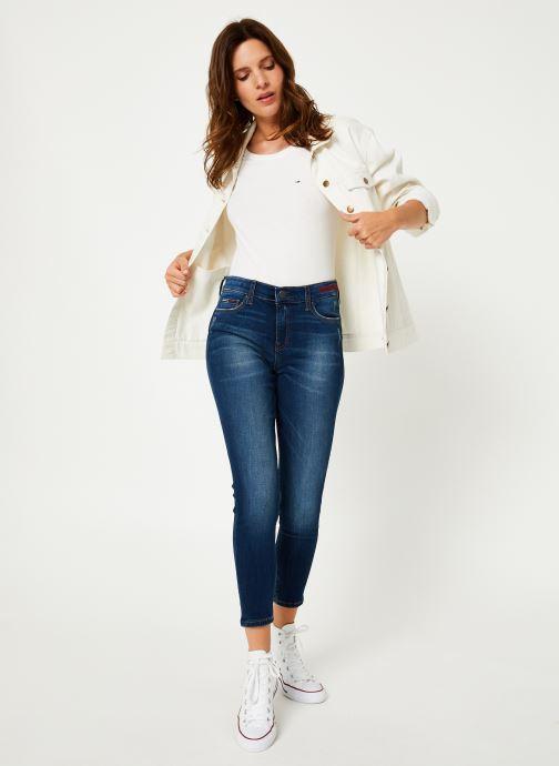 Vêtements Tommy Jeans TJW SOFT JERSEY TEE Blanc vue bas / vue portée sac