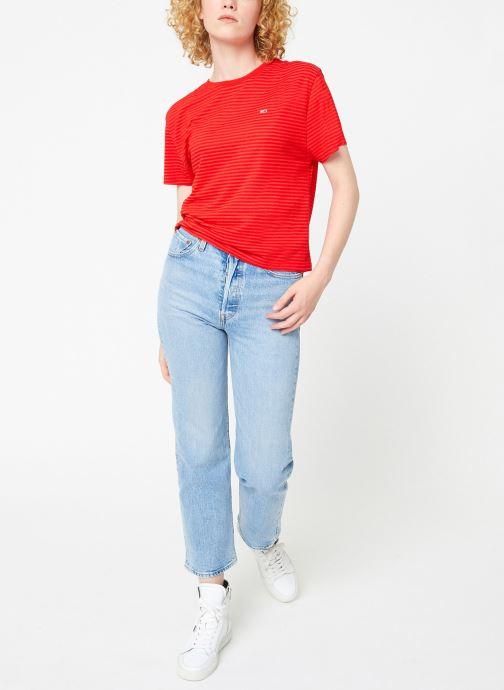 Kleding Tommy Jeans TJW TEXTURED HANDFEEL TEE Rood onder