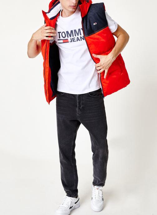 Tøj Tommy Jeans TJM TOMMY CLASSICS LOGO TEE Hvid se forneden