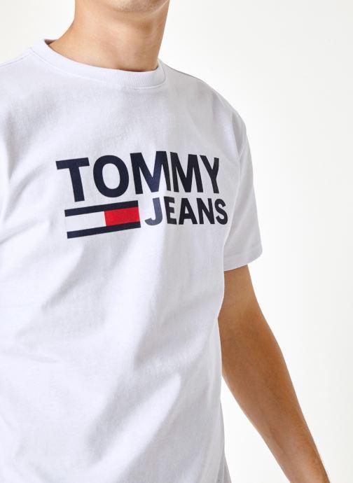 Tøj Tommy Jeans TJM TOMMY CLASSICS LOGO TEE Hvid se forfra