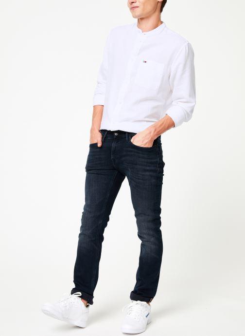 Vêtements Tommy Jeans SLIM SCANTON MBLKS Bleu vue bas / vue portée sac