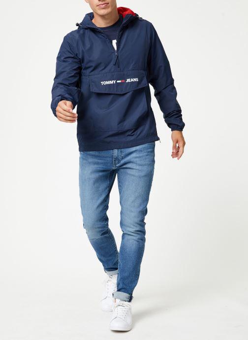 Vêtements Tommy Jeans TJM LIGHT WEIGHT POPOVER Bleu vue bas / vue portée sac