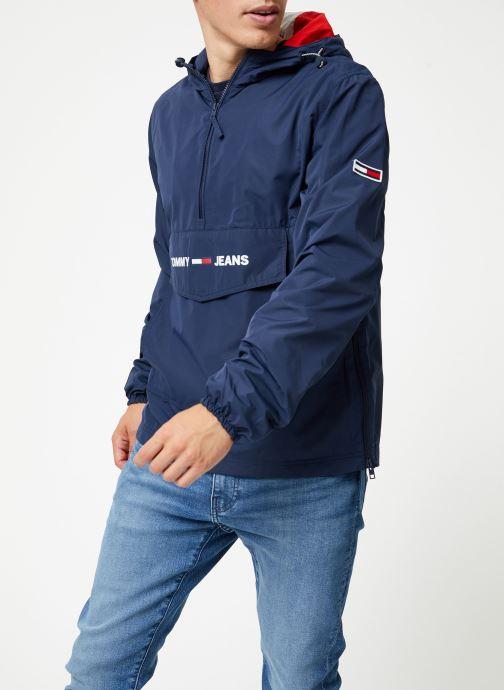Vêtements Tommy Jeans TJM LIGHT WEIGHT POPOVER Bleu vue droite