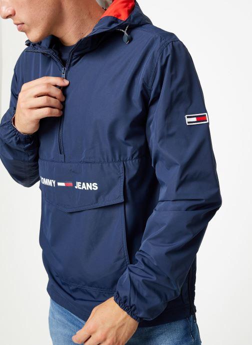 Vêtements Tommy Jeans TJM LIGHT WEIGHT POPOVER Bleu vue détail/paire