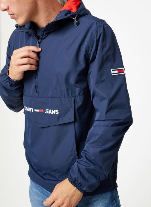 Kleding Tommy Jeans TJM LIGHT WEIGHT POPOVER Blauw detail