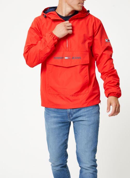 Tøj Tommy Jeans TJM LIGHT WEIGHT POPOVER Rød Se fra højre