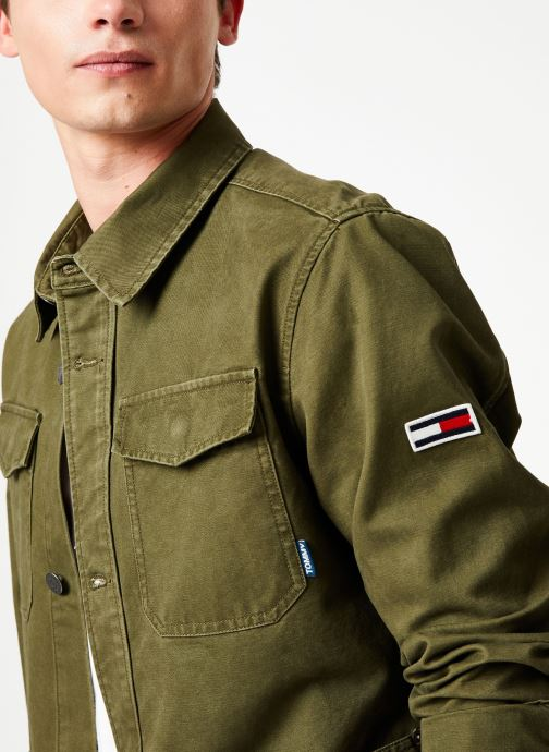 Vêtements Tommy Jeans TJM CARGO JACKET Vert vue face