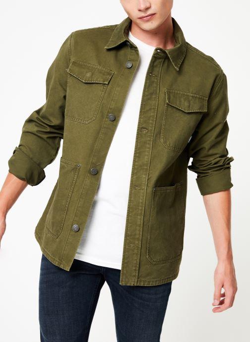 Vêtements Tommy Jeans TJM CARGO JACKET Vert vue détail/paire