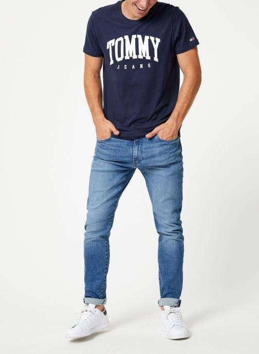 Tøj Tommy Jeans TJM ESSENTIAL LOGO TEE Blå se forneden