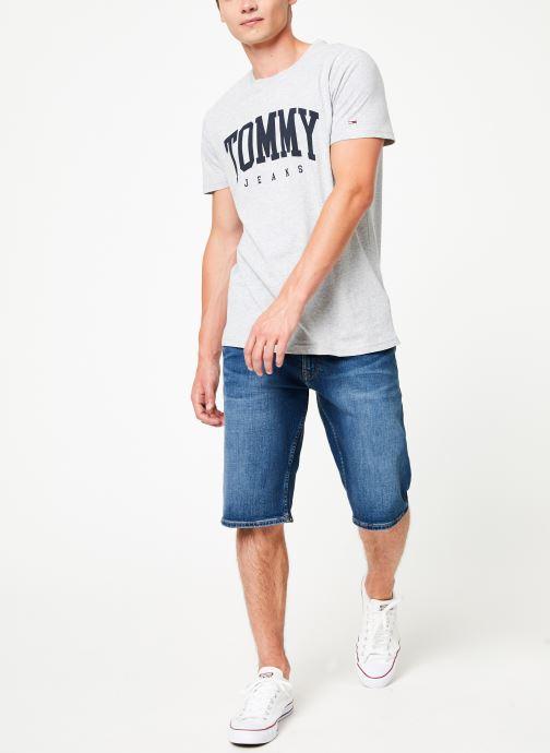 Vêtements Tommy Jeans TJM ESSENTIAL LOGO TEE Gris vue bas / vue portée sac