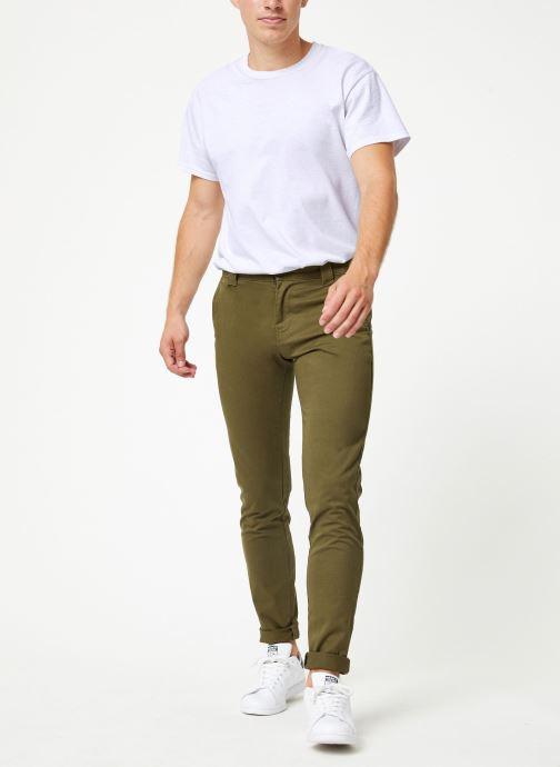 Vêtements Tommy Jeans TJM SCANTON CHINO PANT Vert vue bas / vue portée sac