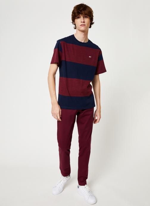 Vêtements Tommy Jeans TJM SCANTON CHINO PANT Bordeaux vue bas / vue portée sac