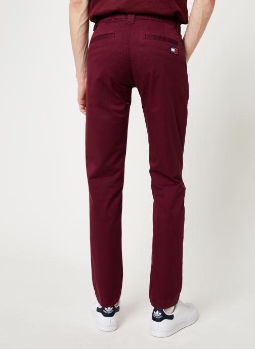 Vêtements Tommy Jeans TJM SCANTON CHINO PANT Bordeaux vue portées chaussures
