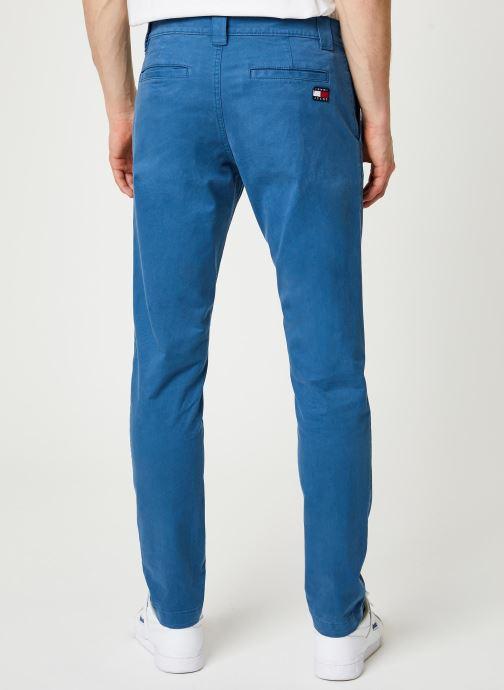 Vêtements Tommy Jeans TJM SCANTON CHINO PANT Bleu vue portées chaussures