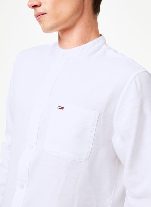 Vêtements Tommy Jeans TJM MAO LINEN SHIRT Blanc vue face
