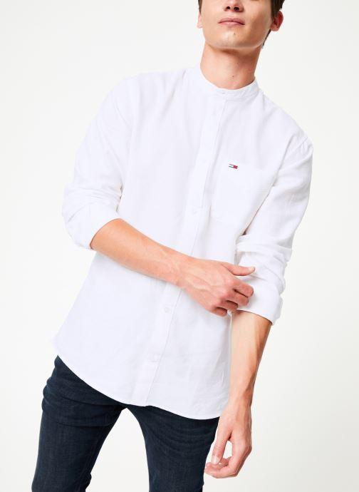 Vêtements Tommy Jeans TJM MAO LINEN SHIRT Blanc vue détail/paire