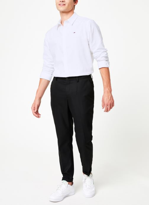 Vêtements Tommy Jeans TJM STRETCH OXFORD SHIRT Blanc vue bas / vue portée sac
