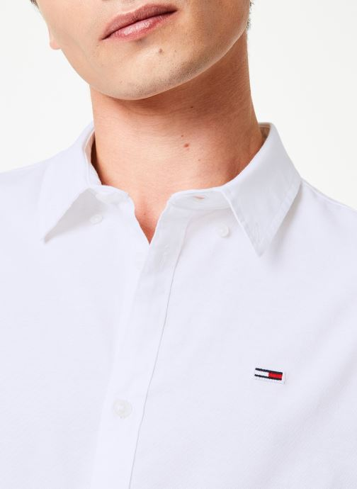 Vêtements Tommy Jeans TJM STRETCH OXFORD SHIRT Blanc vue face