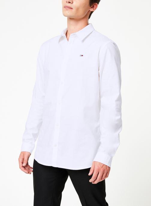 Vêtements Tommy Jeans TJM STRETCH OXFORD SHIRT Blanc vue droite