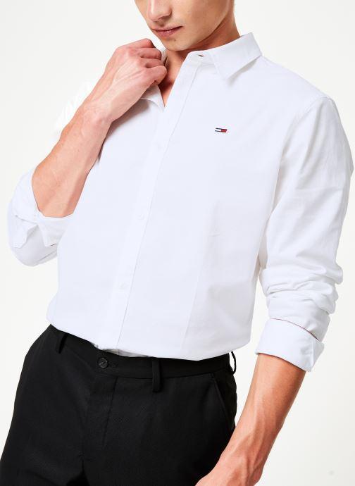 Vêtements Tommy Jeans TJM STRETCH OXFORD SHIRT Blanc vue détail/paire