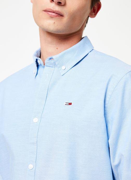 Vêtements Tommy Jeans TJM STRETCH OXFORD SHIRT Bleu vue face