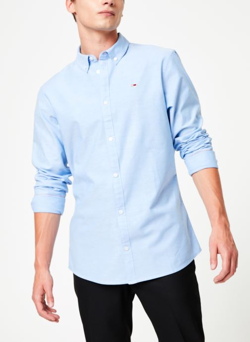 Vêtements Tommy Jeans TJM STRETCH OXFORD SHIRT Bleu vue détail/paire