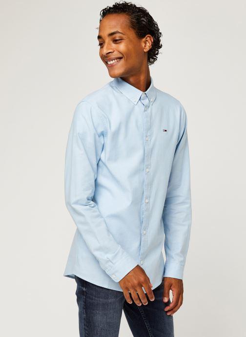 Vêtements Tommy Jeans TJM STRETCH OXFORD SHIRT Bleu vue droite