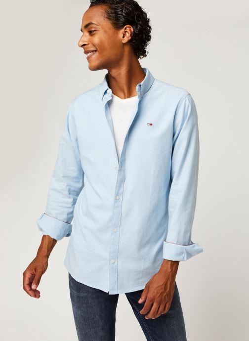 Vêtements Tommy Jeans TJM STRETCH OXFORD SHIRT Bleu vue détail/paire