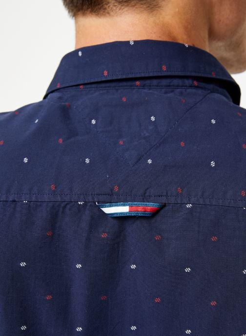 Vêtements Tommy Jeans TJM NOVELTY DOBBY SHIRT Bleu vue face