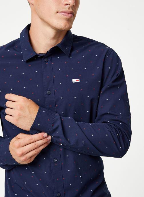 Vêtements Tommy Jeans TJM NOVELTY DOBBY SHIRT Bleu vue détail/paire
