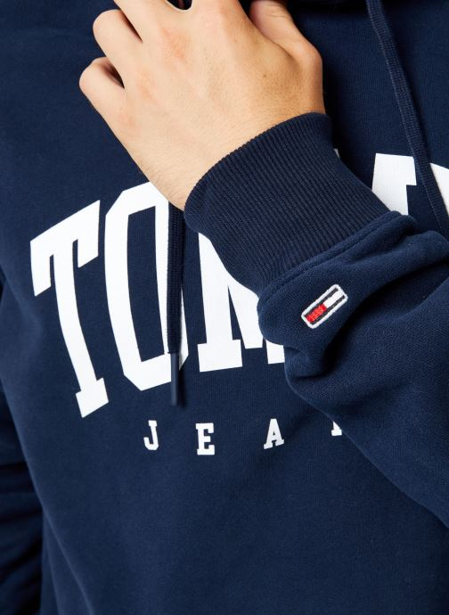 Vêtements Tommy Jeans TJM ESSENTIAL TOMMY HOODIE Noir vue face