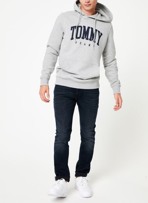 Vêtements Tommy Jeans TJM ESSENTIAL TOMMY HOODIE Gris vue bas / vue portée sac